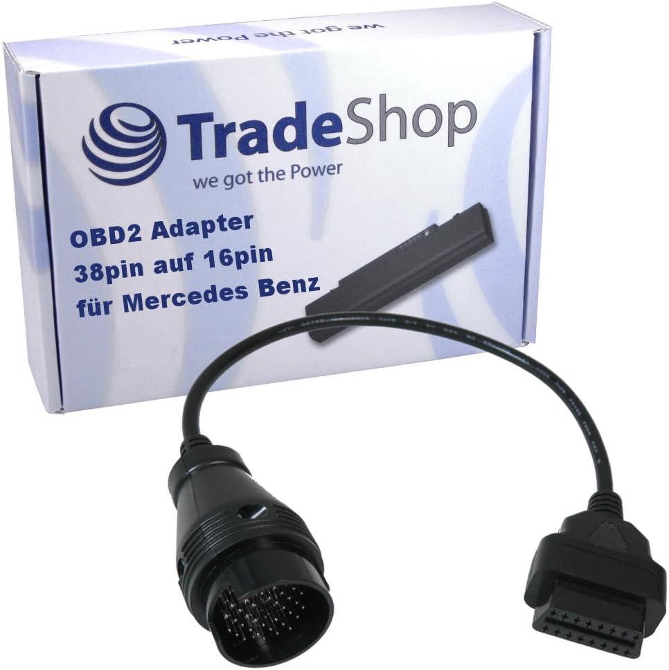 Odb Obd2 16pin Diagnose Adapter Kabel Für Mercedes Benz 38 Pin Rund Diagnostic Link Connector Dlc Anschluss Auto