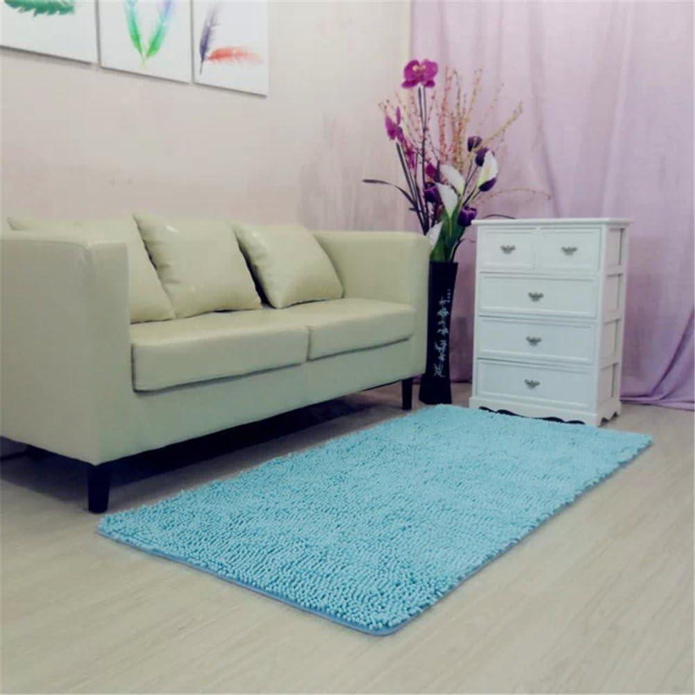 Newrara Super Soft Modern Shag Area Rugs Living Room Carpet Bedroom Rug Washable Rugs Solid Home Decorator Floor Rug and Carpets 4- Feet by 5- Feet (Blue)