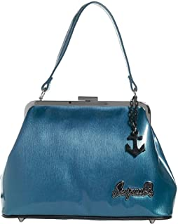 SOURPUSS Wallet Pin-Up Rockabilly Retro TURQUOISE