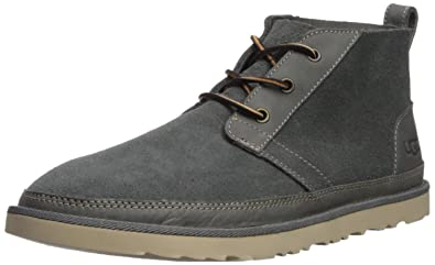 UGG Men's Neumel Unlined Leather Sneaker, Charcoal, ...