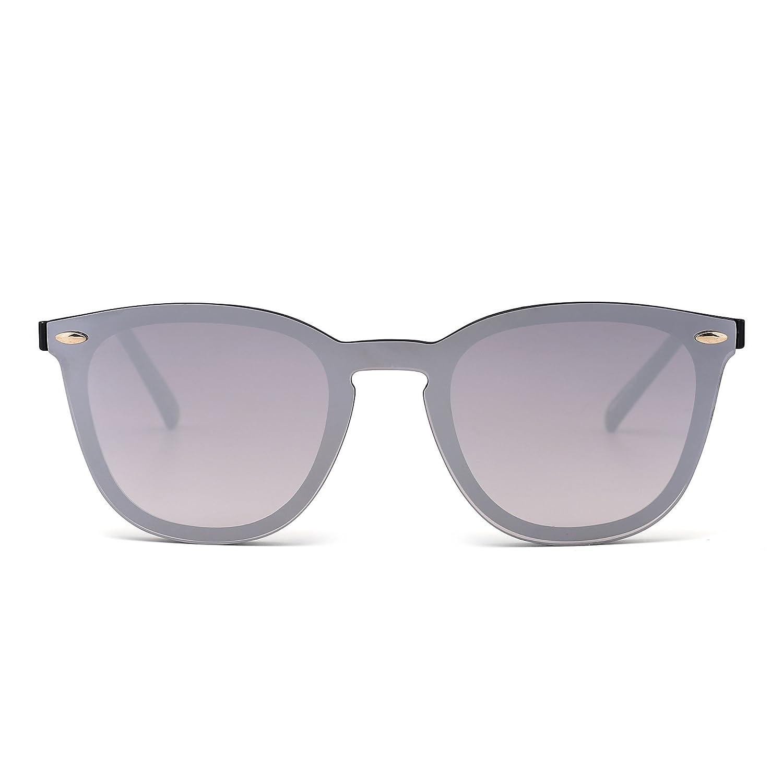 Sin Marco Montura Gafas de Sol Una Pieza Espejo Reflexivo Anteojos Para Hombre Mujer