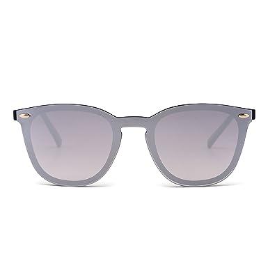 Reflektierende Metall-Rund-Sonnenbrille Matt-Schwarz tl5Prn
