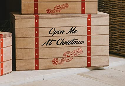 Christmas Crate Box.Other Christmas Eve Box Xmas Wooden Crate Large Child S