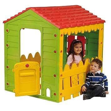Outdoor Toys KSP69560 - Casita Infantil Granja (119 x 104.5 x 126.5 cm) - Para niños entre 3 a 6 años: Amazon.es: Juguetes y juegos