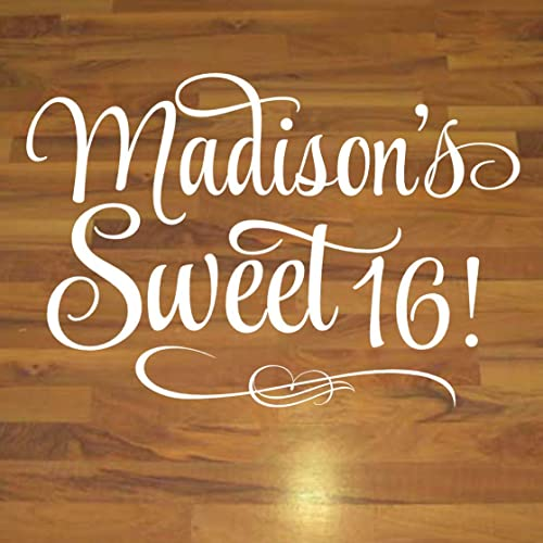 Sweet Sixteen Dance Floor Decal 16th Birthday Decor Sweet 16 Wall Decorations Over 30 Colors Sizes Handmade
