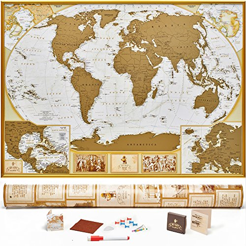 Detailed Size 35x25 Outlined Travelers MyMap product image