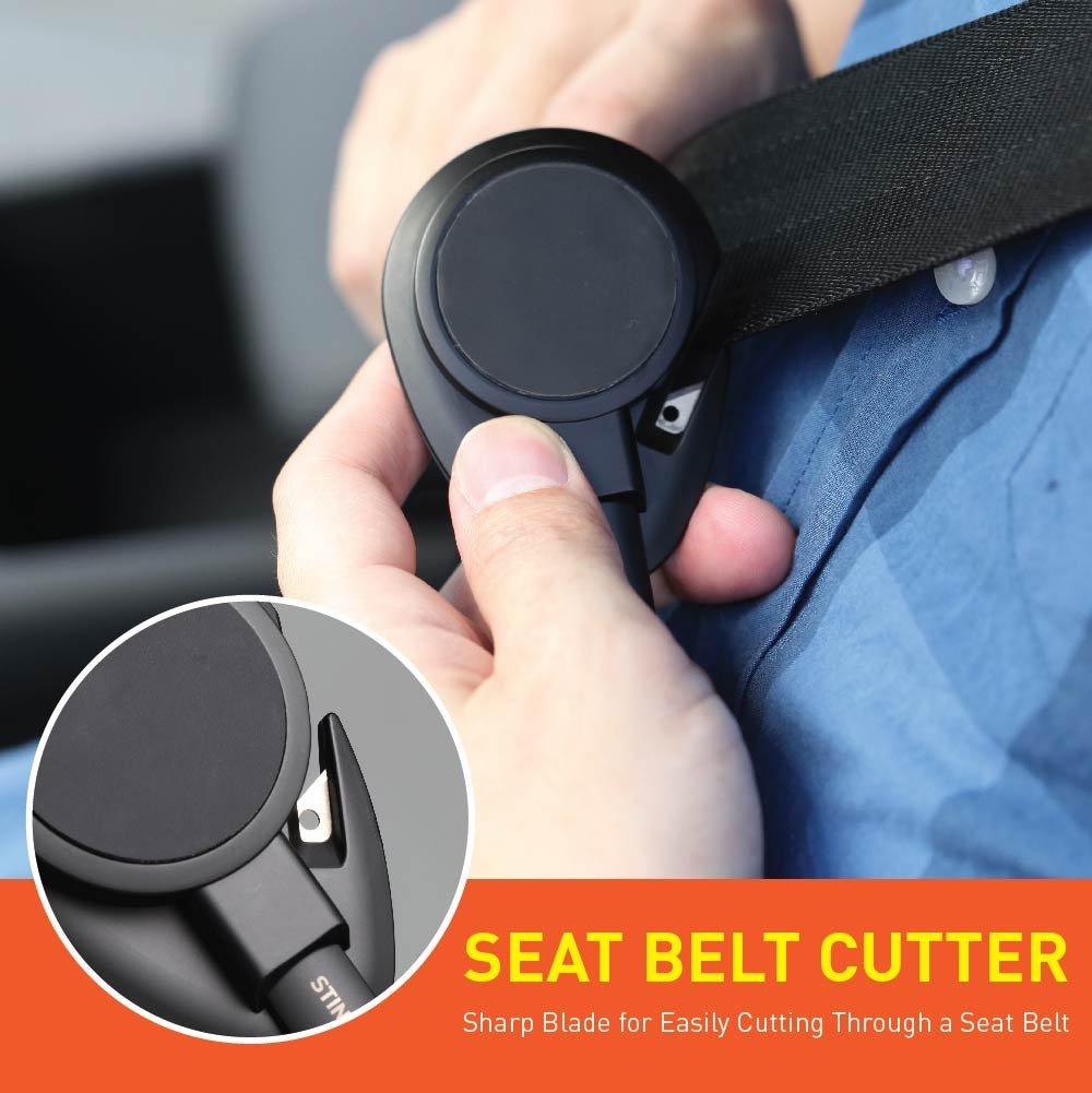 Black Spring Loaded Window Breaker Punch Seat Belt Cutter Designed in USA Ztylus Stinger Car Emergency Escape Tool: Multi Function Life-Saving Vehicle Rescue Magnetic Vent Mount Phone Holder