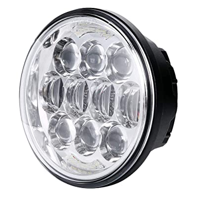 """80W DOT Approved 5-3/4"""" 5.75"""" Osram Chips LED Projector Headlight for Harley Motorcycles/Bike(Chrome): Automotive"""