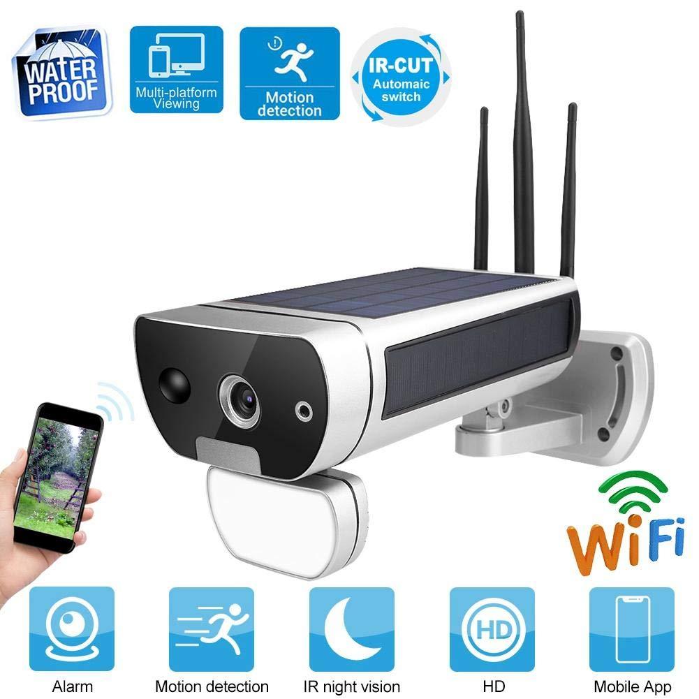Hakeeta Cámara Solar de Seguridad WiFi 1080P para Exteriores ...