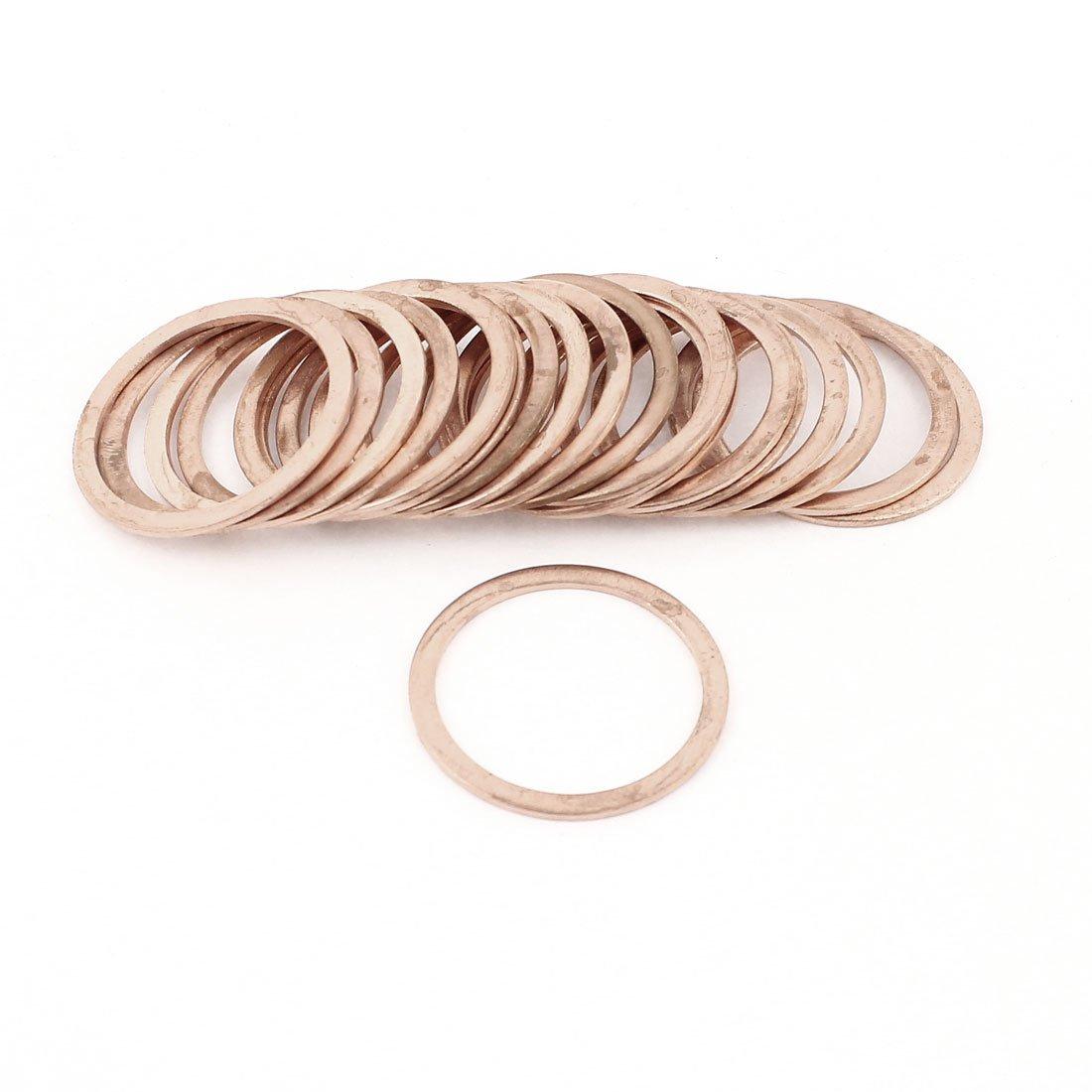 20 Pcs 33mm Inner Diameter Flat Copper Washer Oil Seal Ring Spacer