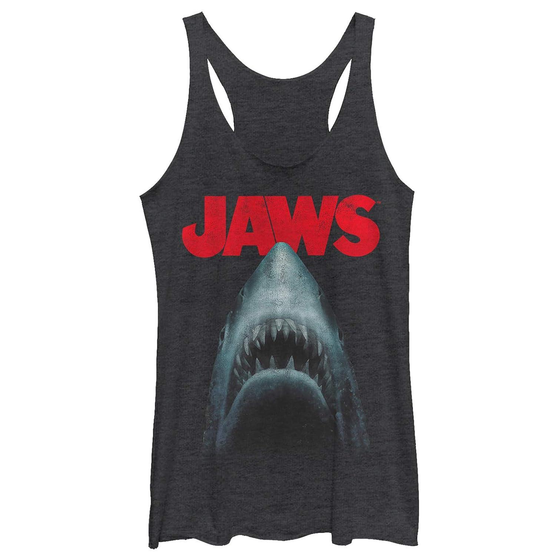 Jaws Women's Shark Teeth Poster Racerback Tank Top