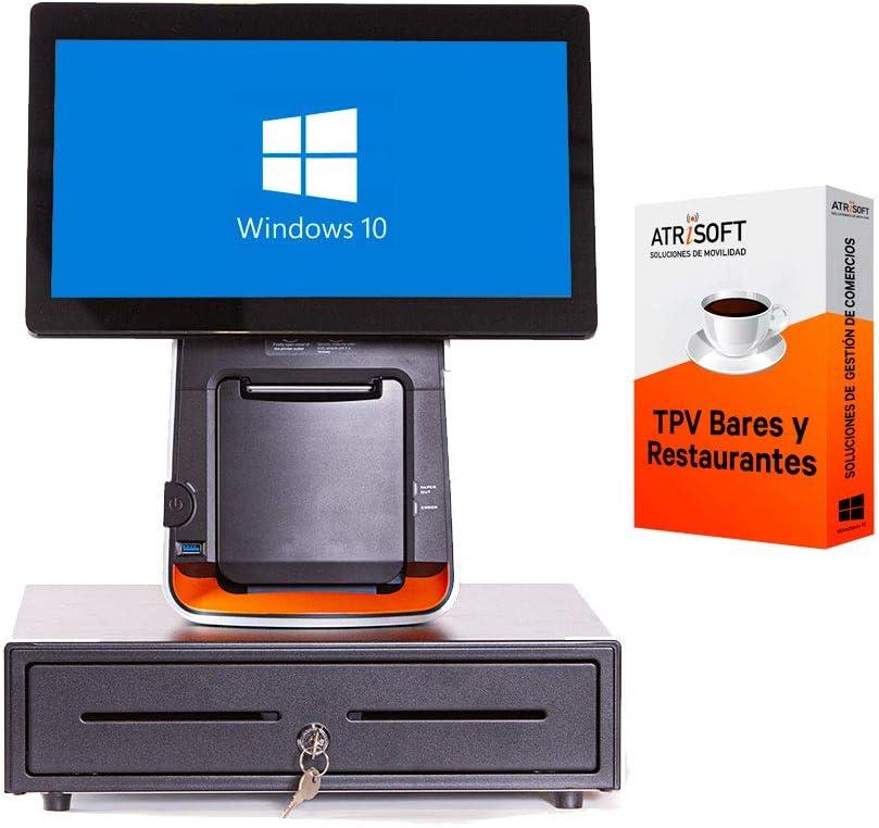 Pack CITAQ para Hosteleria TPV táctil Completo + cajón + Impresora 80mm + Windows 10 + Software Hosteleria restaurantes, cafeterias, heladerias.