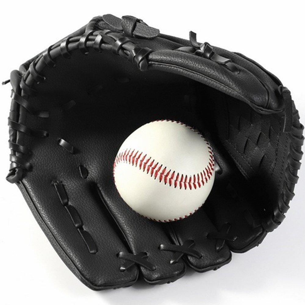 Gant de baseball en plein air Gants de frappeur Gants de balle-molle Gants de receveur avec baseball PU cuir Gauche 10.5 inch Adulte Adolescent Gant dentra/înement sauvage L/éger Confortable Baseball Outfilders-Gloves-BROWN