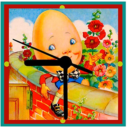 Humpty Dumpty, Baby Clock, Shower Gift, Handcrafted from Vintage Art, 2 Sizes, Desk Clock, Wall Clock, Includes Stand, Ships Free