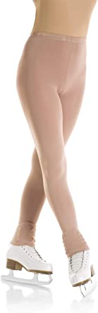 Mondor 3339 Girls Footless Evolution Figure Skating Tights