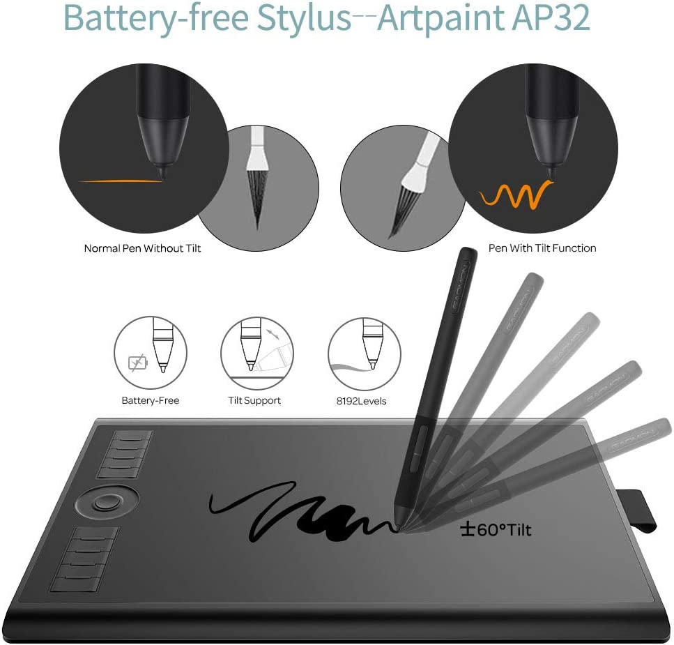 Gaomon M10k Pro 10 6 25 Graphic Drawing Pen Tablet Amazon Co Uk Electronics