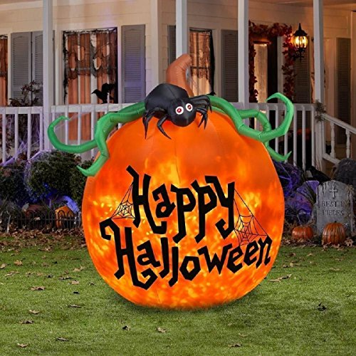 Projection Kaleidoscope Happy Halloween Pumpkin Outdoor Inflatable]()