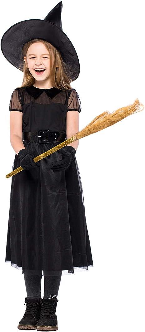XINSH Disfraz Halloween Bruja Niña Costume Cosplay Vestido para ...