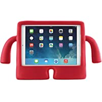 Kılıf Merkezi iPad 9.7 2017 5.Nesil A1822 A1823 iBuy Kids Stand Renkli Koruma Kılıf, Silikon, Kırmızı