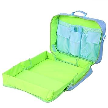 Zicac Kids Multi Function Travel Play Tray Kit Plane Train Car Seat Toy  Organizer Rucksack Backpack cf3ca5a969