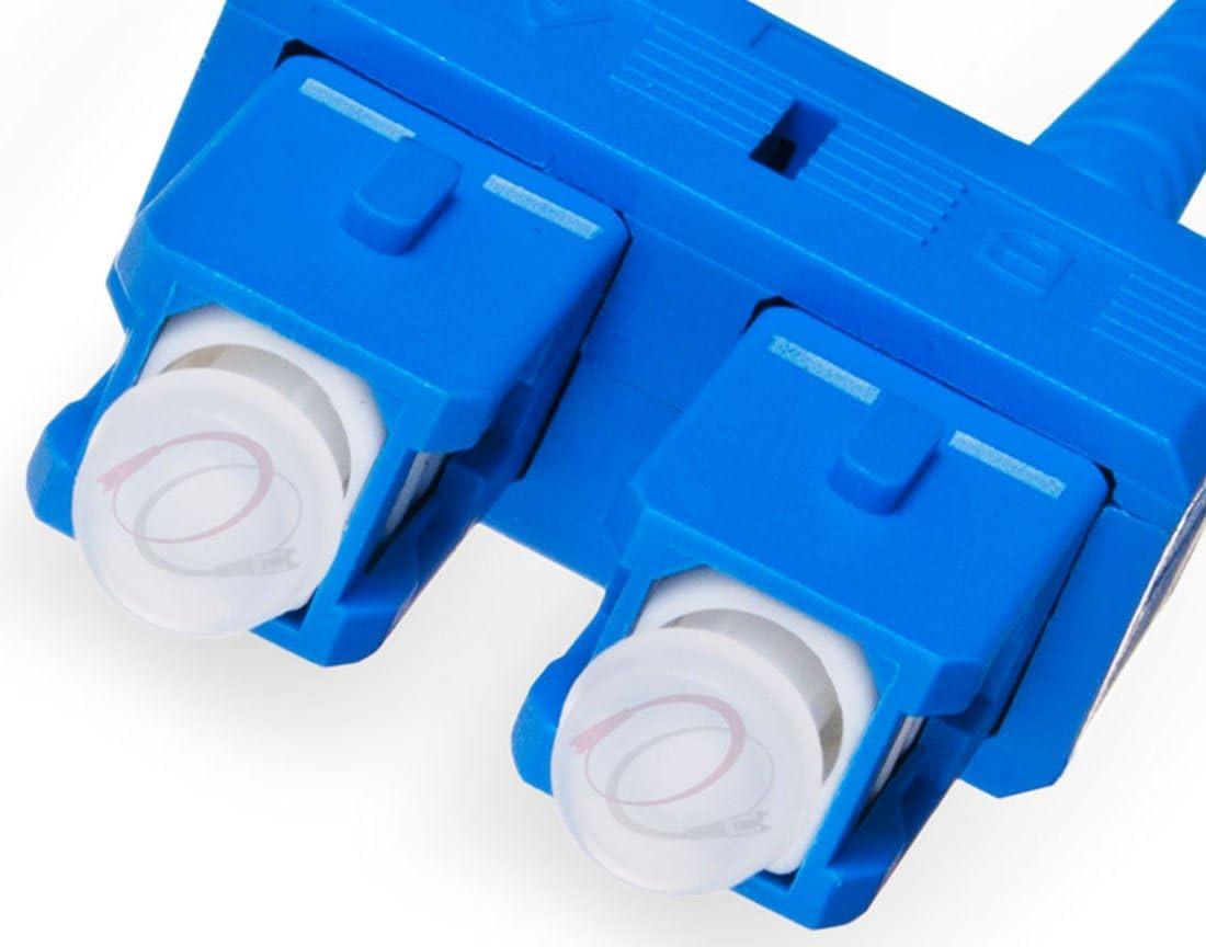 Duplex 9//125 SC to SC Singlemode Jumper 0.5 Meter 6.56ft FiberCablesDirect | Length Options: 0.5M-300M ofnr sc-sc Single-Mode dup sc//sc smf dx Yellow PVC 0.5M OS2 SC SC Fiber Patch Cable