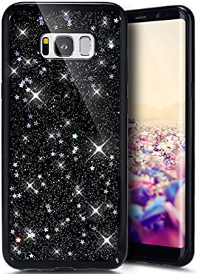 new style 99a81 fd923 Galaxy S8 Plus Case, Galaxy S8 Plus Bling Glitter TPU Case,PHEZEN Luxury  Fashion Shiny Sparkling Glitter Hexagonal Star Flexible Soft Rubber Gel  Black ...
