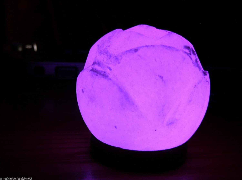 Amazon.com: USB Lotus Flower Himalayan Salt Lamp LED light color ... for Purple Salt Lamp  67qdu