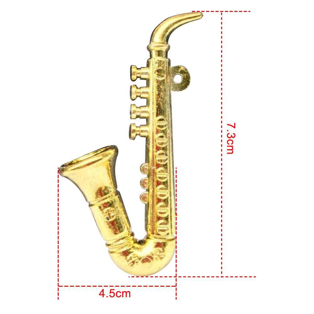 Foreen 1//12 Miniature Plastic Violin Saxophone Model Musical Instrument Decor Doll House Accessory Pretend Play Kids Toy 2#