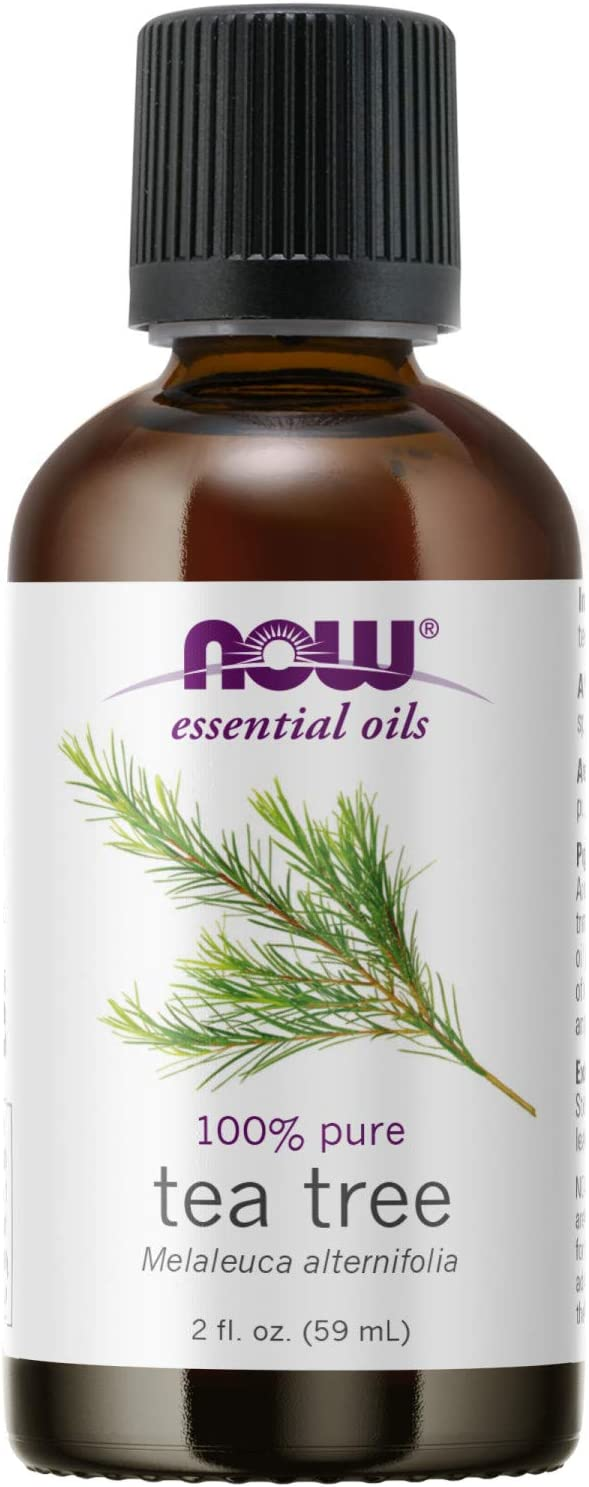 NOW Essential Oils, Tea Tree Oil, Cleansing Aromatherapy Scent, Steam Distilled, 100% Pure, Vegan, Child Resistant Cap, 2-Ounce