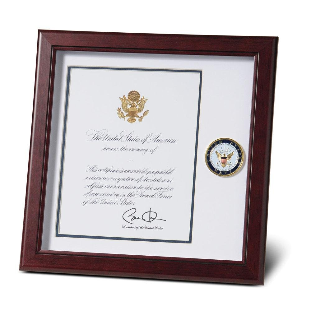 Allied Products US Navy Presidential Memorial Certificate 8 x 10 Frame,