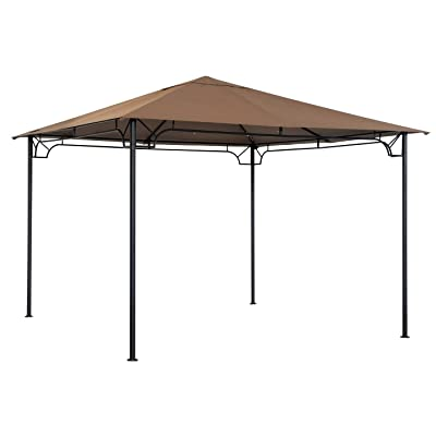 Sunjoy 110109148 Original Replacement Canopy for Gazebo (10X10 Ft) L-GZ136PST-8F Sold at ACE, Tan: Garden & Outdoor