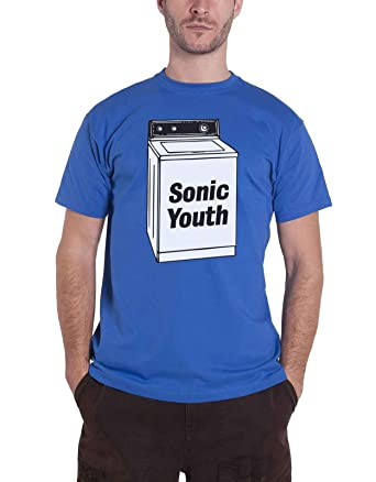 82d84b457 Amazon.com: Sonic youth T Shirt Washing Machine Album Band Logo Official  Mens Blue: Clothing