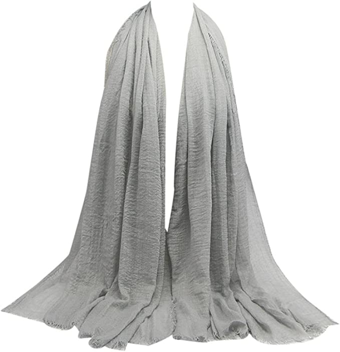 Damen Premium Viskose Maxi Falte Wolken Hijab-Schal Schal Weich Islam Muslim