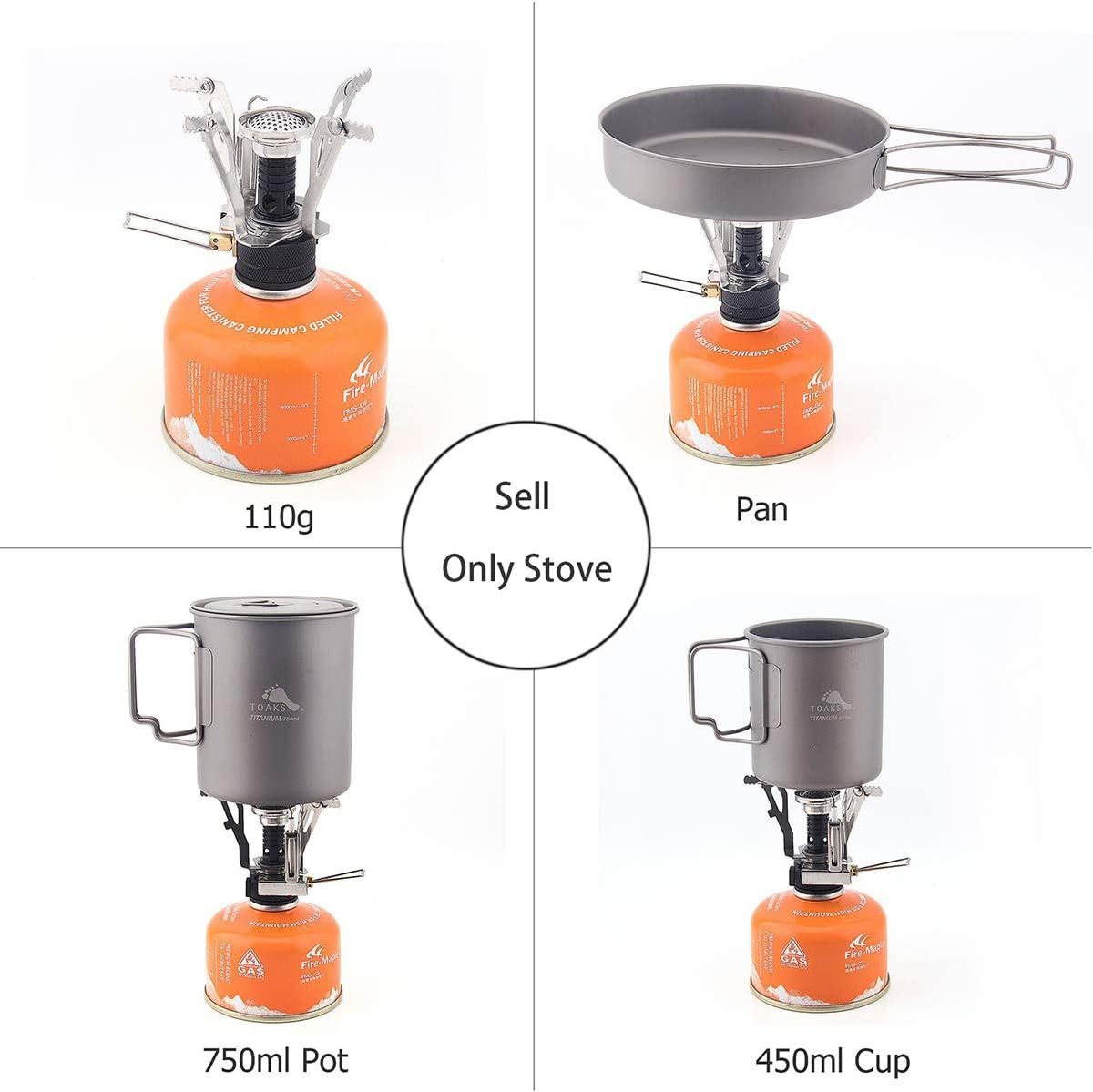 Backpacking Stove Portable Camping Stove with Piezo Ignition Stable Supports Ultralight Stove for Camping Hiking and Backpacking Trips Cooking