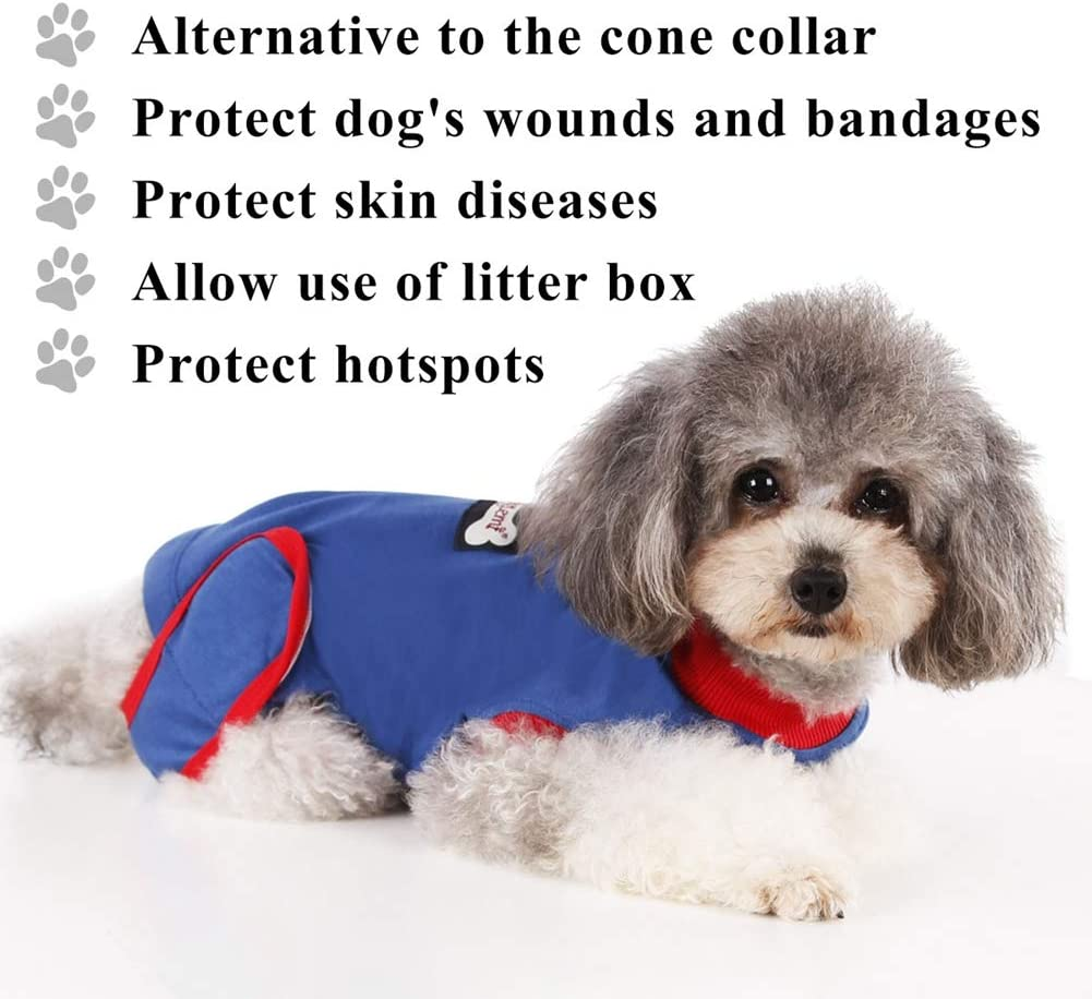 Abdominal Wound Protector Puppy Surgical Clothes for Recovery Yalatan Pet Postoperative recovery Costume Cone Dog Body Suit