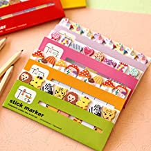 Sticker Post-It Bookmark Marker Memo Index Tab Sticky Note Cute Animal 1PCS 120 Pages (Animal memo+dolls)