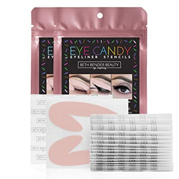 photo relating to Eyeliner Stencil Printable known as Eye Sweet Eyeliner Stencil Pads - For Great Smokey Eyes or Winged Idea Appearance. Crafted by way of Celeb Make-up Artist. Reusable, Basic in the direction of New  Multipurpose.