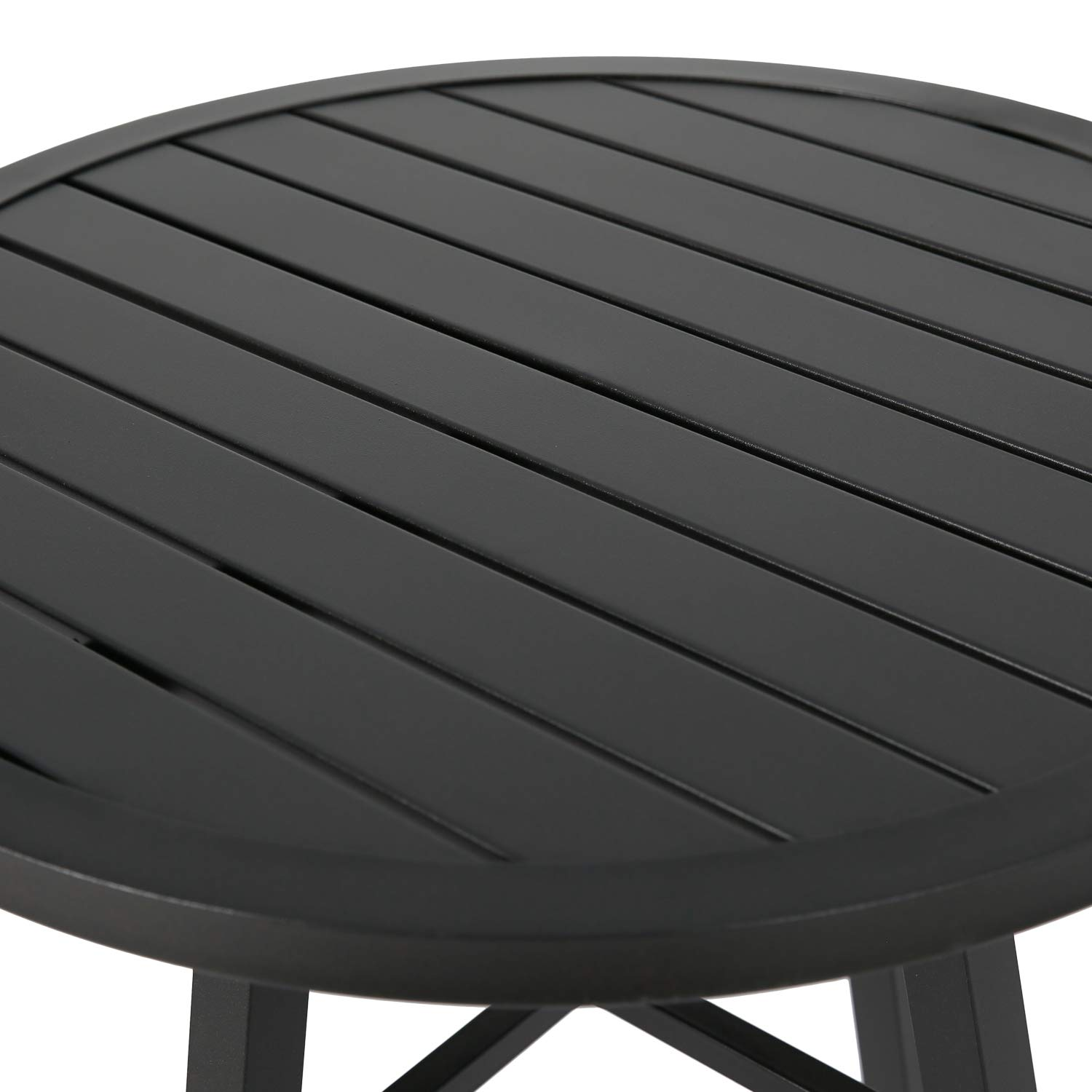 Ulax furniture Outdoor Round Side Table, Patio Coffee Bistro Table by Ulax furniture (Image #3)