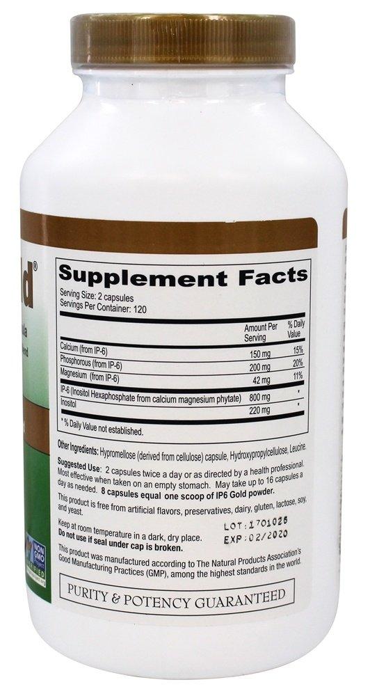 Oro IP6, Inmune Fórmula textuales, 240 Caps Veggie - IP-6 Internacional: Amazon.es: Salud y cuidado personal