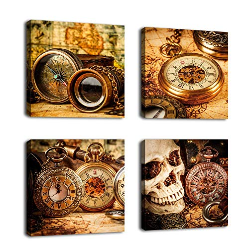 Vintage Wall Art Marine Theme Canvas Picture Prints Navigational Exploration Framed Ready to Hang Small Nautical Canvas Artwork Sailing Kits for Home Decor Office Decoration 12