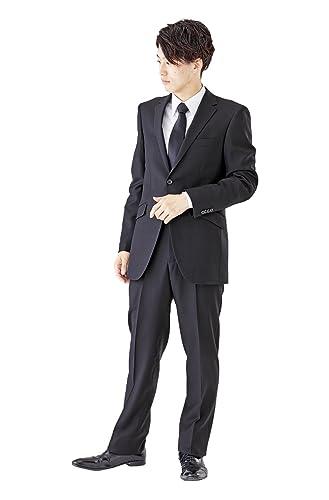 (モノワール) MONOIR 喪服 メンズ 礼服 大きいサイズ シングル ブラックフォーマル スーツ オールシーズン ウール アジャスターあり 1907 BB体 6号 ブラック