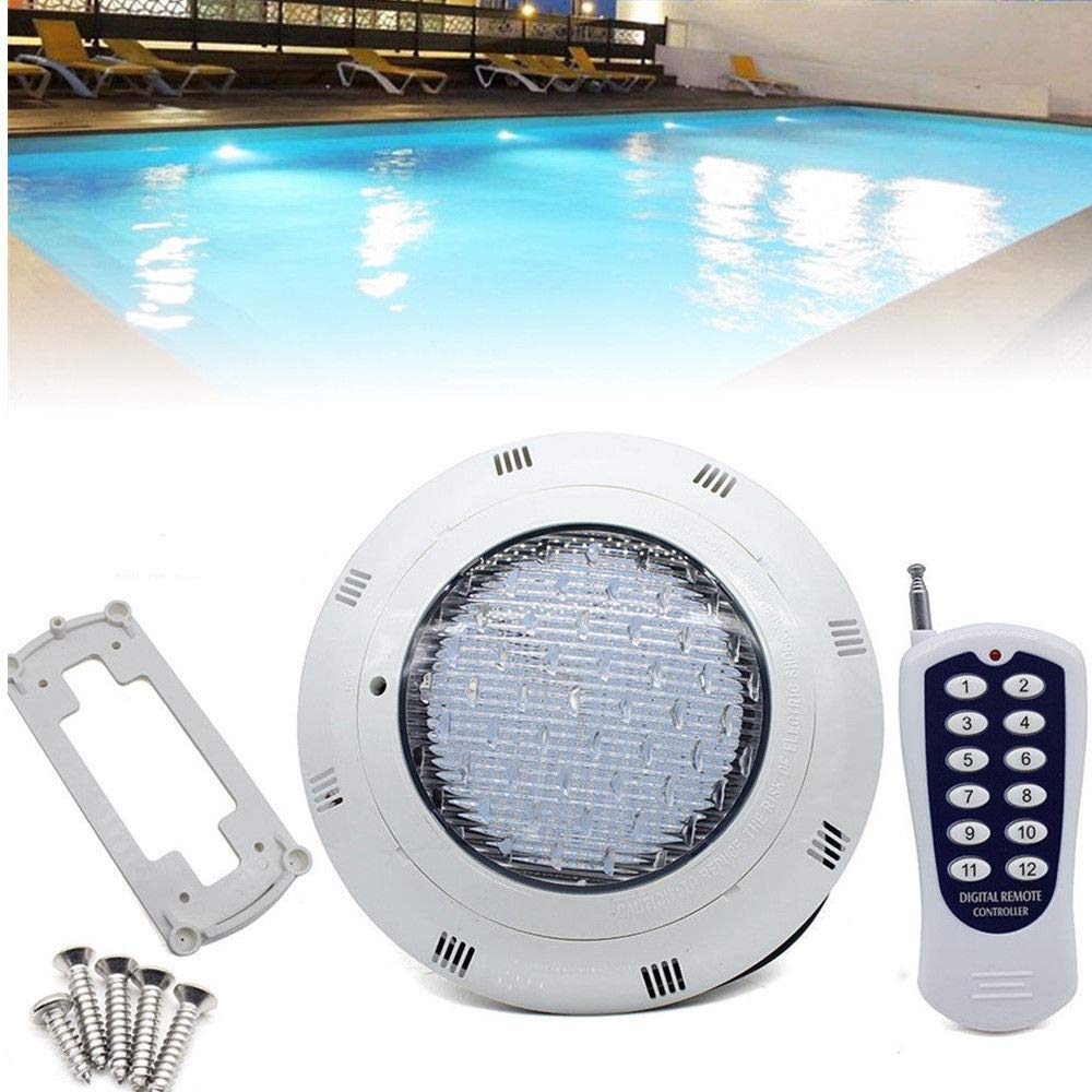 LED RGB Underwater Swimming Pool Light 45W 12V AC/DC 304 Stainless Steel  Color Changing Surface/Wall Mounted Waterproof IP68 Submersible Inground  Pool ...