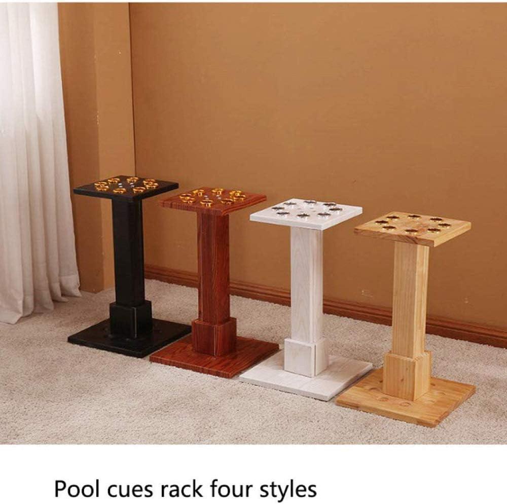30x55x24cm Lytqj Solid Wood Freestanding Pool Cue Rack,Vertical Floor-Standing Cue Holder,Billiard Bar Storage Stands for Billiards Rooms,Holds 8 Pool Cues//Black