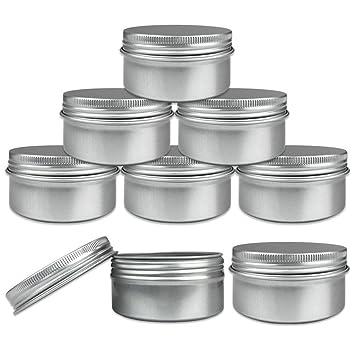 Amazoncom Beauticom Aluminum Silver Tin Metal Storage Containers