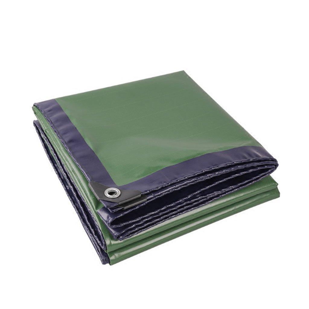2M2M  Ljf Couteau de bÂche de bÂche de Camion de Couleur Bleu et Vert Tissu de Prougeection Solaire imperméable Toile Canopy Canopy Ombre de bÂche