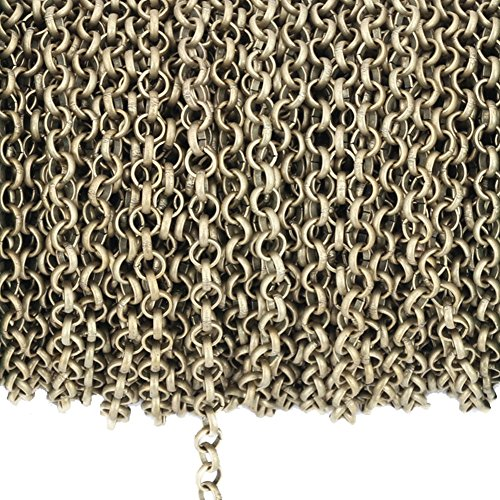 - Dcatcher Rolo Chain Curb Chain Necklace Bulk Cable 11 Yards 3.2mm for Jewelry Making (Bronze)