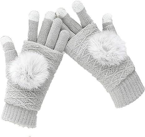 Winter Warm Full /& Half Fingers USB Heating Warm Gloves Knitted Mitten Gloves
