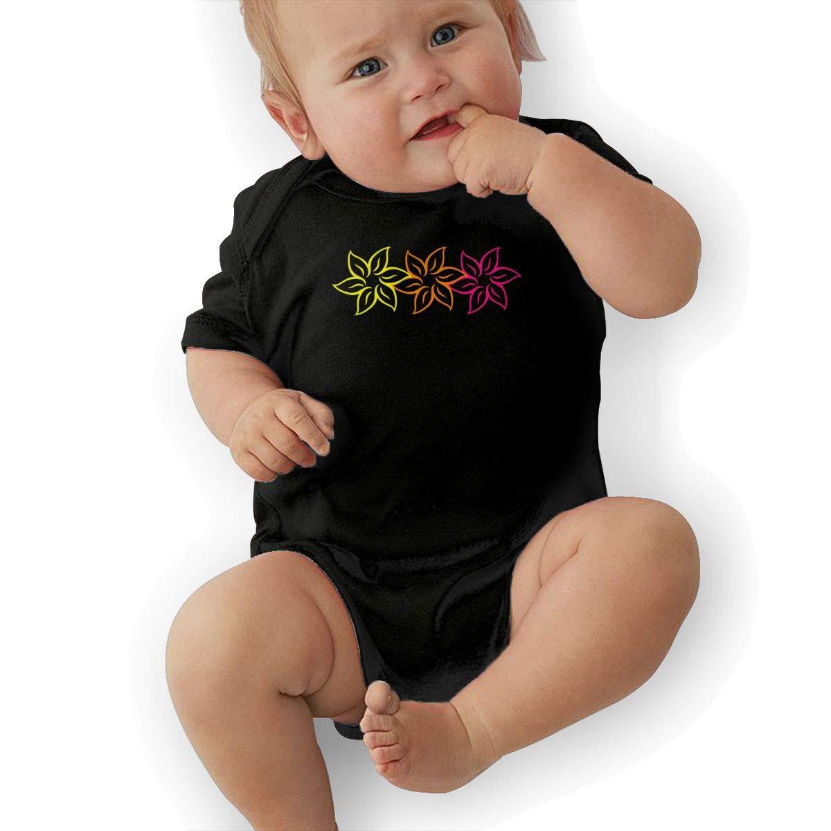 Suit 6-24 Months Black TAOHJS97 Newborn Flowers Short Sleeve Climbing Clothes Playsuit