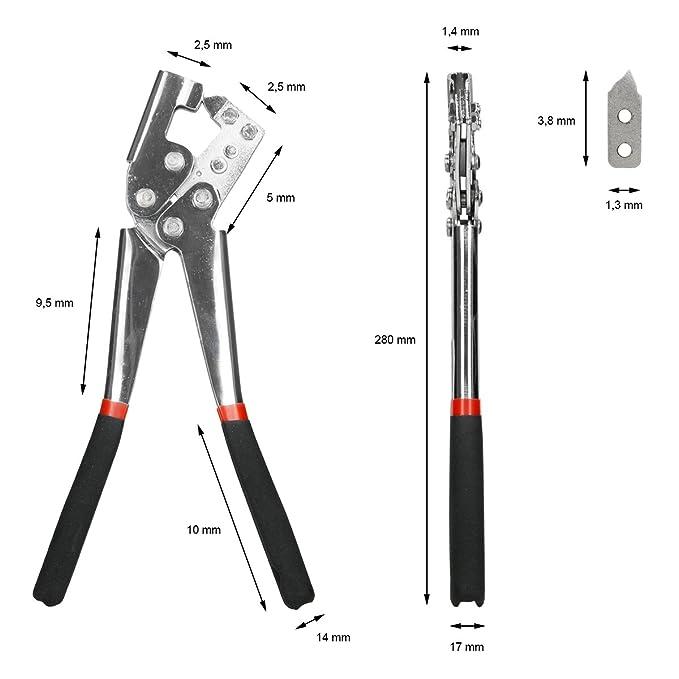 ECD Germany Alicate para Perfil Pinzas para Perfil 280mm Adecuado para 0,5-0,8 mm con Asas ergonómicas Antideslizantes: Amazon.es: Hogar