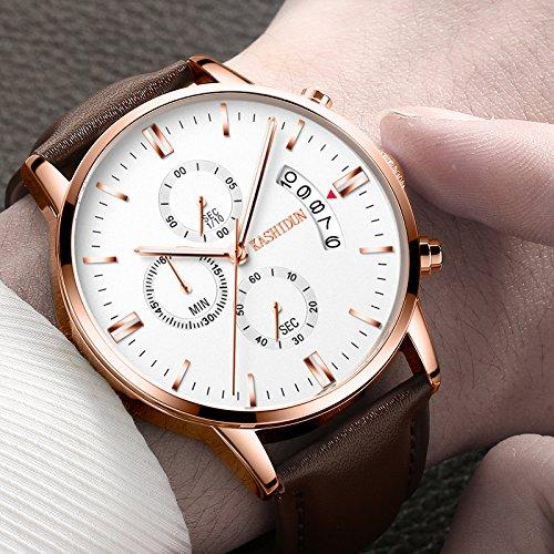 KASHIDUN-Mens-Watches-Casual-Quartz-Wrist-Watches-Luminous-Waterproof-Calendar-Date-WhiteTL-JBZP